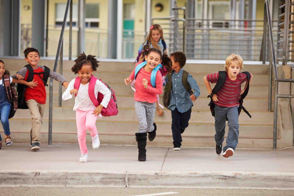 Hora da saída escolar
